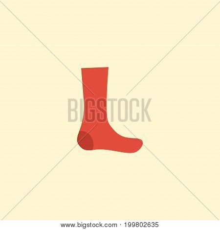Flat Icon Socks Element. Vector Illustration Of Flat Icon Hosiery Isolated On Clean Background