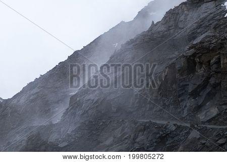 Landscape around Khardung-la Pass in Ladakh, India