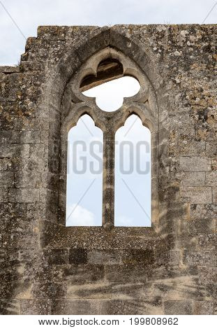 Gothic window in Abbey of St. Peter in Montmajour near Arles France