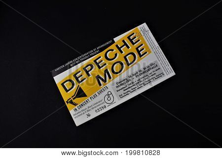 An image of a concert ticket from Depeche Mode - Editorial - Hannover/Germany - 04/29/1986
