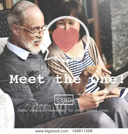 Meet the One Online Matchmaking Sign Up Concept