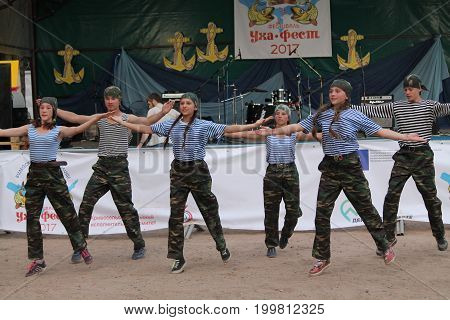 performance of the millitary-patriotic club