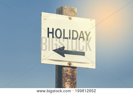 Holiday Word And Arrow Signpost 3