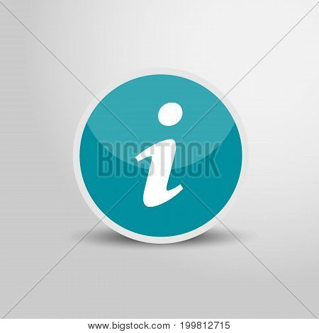 Information icon in circle. Informartion sign 3D round circle icon. Vector stock.