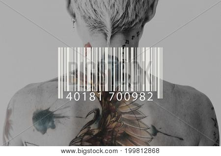 Barcode Line Number Code Banner Vector