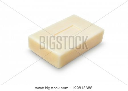 Natural soap on white background, Clipping path