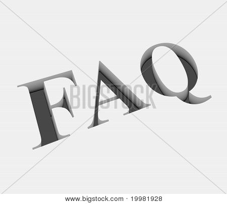 Vector Faq Text Design