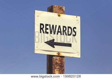 Rewards Word And Arrow Signpost 2
