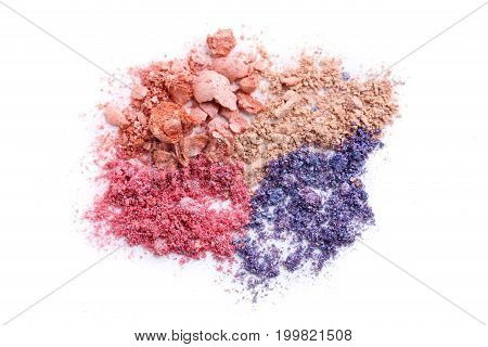 Makeup eyeshadow isolated on a white background