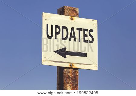 Updates Word And Arrow Signpost 2