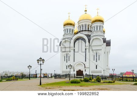 Savior Transfiguration Cathedral in city of Mogilev Belarus