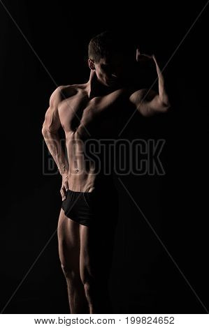 Man With Muscular Body.