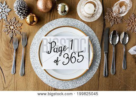 Happy new year celebration word phrase