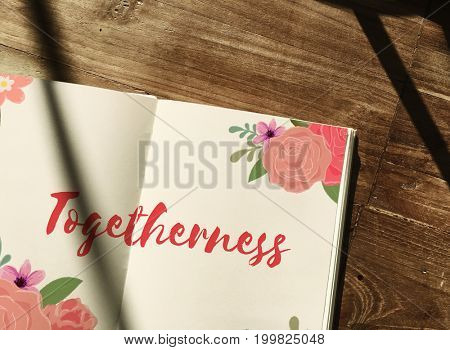 Together Love Letter Message Words Graphic