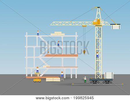 Construction site.Vector illustration weight machine up icon