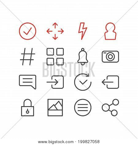 Editable Pack Of Time, Flash, Closed And Other Elements.  Vector Illustration Of 16 Annex Icons.