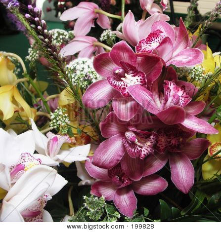 Orchid In Bouquet