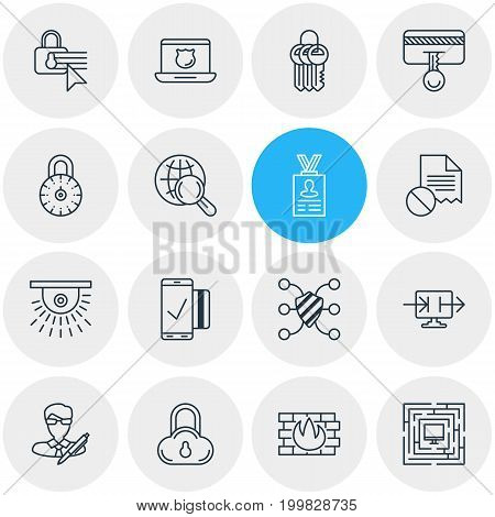 Editable Pack Of Easy Payment, Safe Lock, Safety Key And Other Elements.  Vector Illustration Of 16 Data Icons.