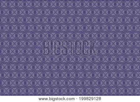 geometric pattern of fine white lines and loops on a dark blue background