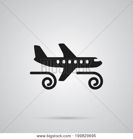 Vector Gustiness Element In Trendy Style.  Isolated Turbulence Icon Symbol On Clean Background.