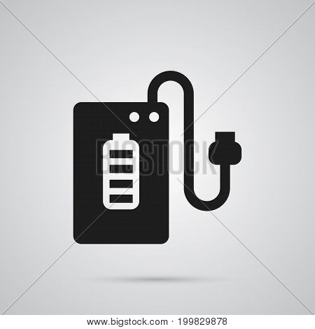 Vector Supply  Element In Trendy Style.  Isolated Powerbank Icon Symbol On Clean Background.