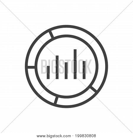 Vector Market Element In Trendy Style.  Isolated Monitoring Outline Symbol On Clean Background.