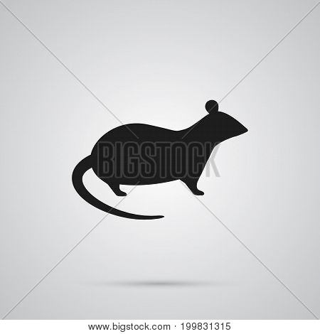 Vector Mouse Element In Trendy Style.  Isolated Rat Icon Symbol On Clean Background.