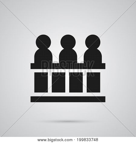 Vector Jury Element In Trendy Style.  Isolated Jurors Icon Symbol On Clean Background.