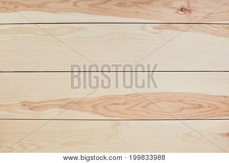 Wooden background or texture. Light brown wood texture background surface. Table top view. Wood plank wall. Horizontal stripes. Detailed background photo texture. Surface for design and decoration
