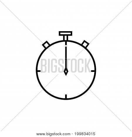 mechanical old chronometer linear thin vector icon