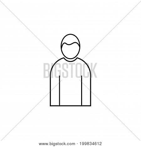 male human man person linear vector icon