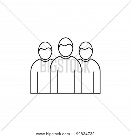 team group cooperation business linear vector icon