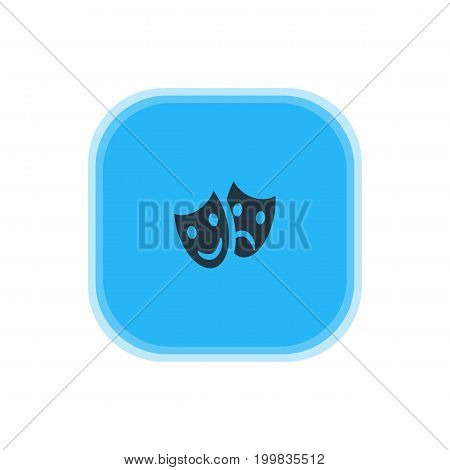 Beautiful Check-In Element Also Can Be Used As Masks Element.  Vector Illustration Of Theatre Icon.