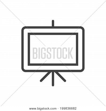 Isolated Board Stand Outline Symbol On Clean Background