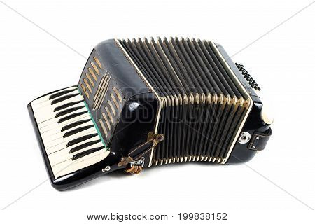 Very Old Black Accordion