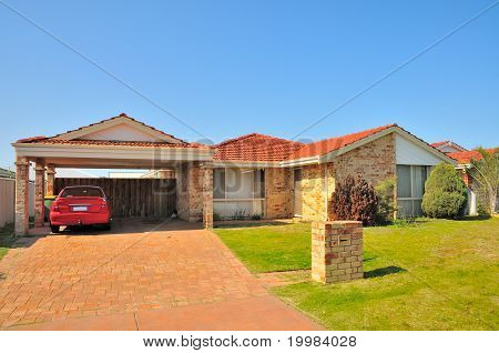 Generic House With Car