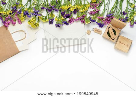 Craft Photography Packaging Beautiful White Wedding Photobook, Usb Flash Drive In Handmade Wooden Bo