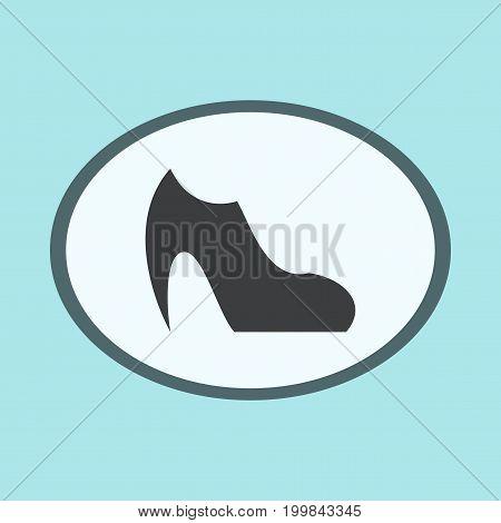Icon in flat design fashion footwear Women Boot