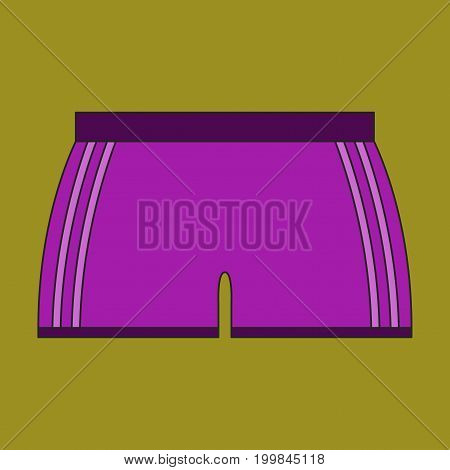 Icon in flat design athletic shorts equipment