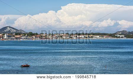 Seascape. Laganas Bay on the island of Zakynthos (Greece)