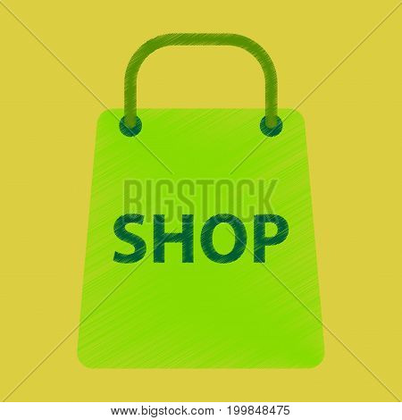Flat Icon in Shading Style basket shop