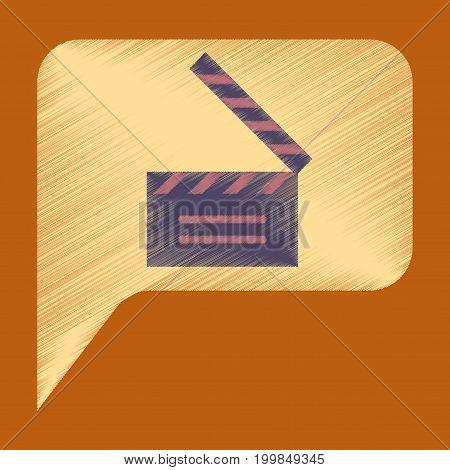Flat Icon in Shading Style film slapstick