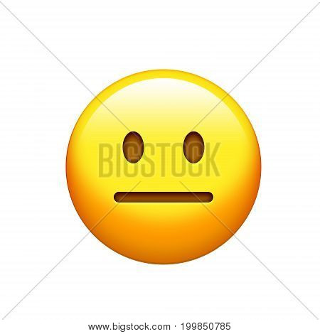 Isolated Emoji Yellow Frown Troubled Look Face Icon