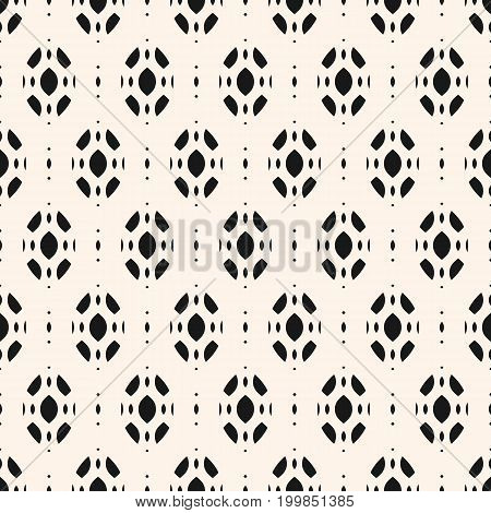 Subtle abstract geometric background. Vector seamless ornament pattern. Monochrome texture with smooth ovate geometrical shapes. Decorative design element for prints, textile, furniture, linens, cloth.