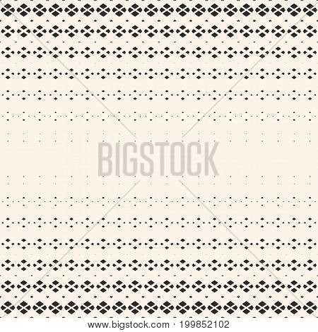 Halftone geometric seamless pattern with small diamond shapes,, fading rhombuses. Hipster fashion background. Modern minimalist texture with gradient transition effect. Design for decor, prints. Design pattern, diamond pattern, rhombuses pattern.