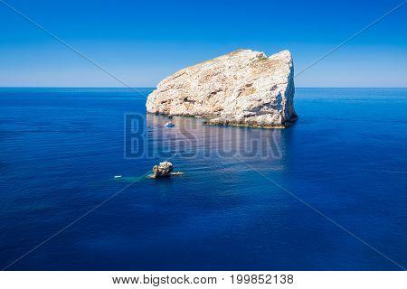 Landscape Near The Neptune Grotto Cave (grotta Di Nettuno) In Alghero, Sardinia