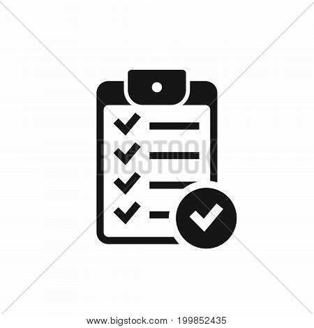 Checklist icon with check mark sign. Vector isolated illustration.