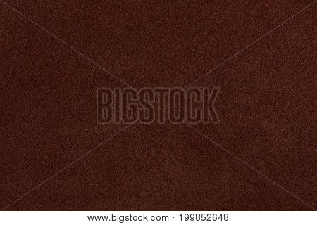 Brown suede texture background.  Chamois textile texture