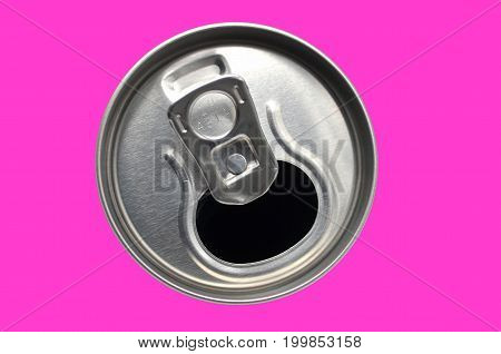 lemonade can in front colorful isolated photo