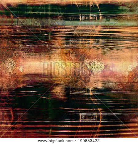 Art grunge background, vintage style textured frame. With different color patterns